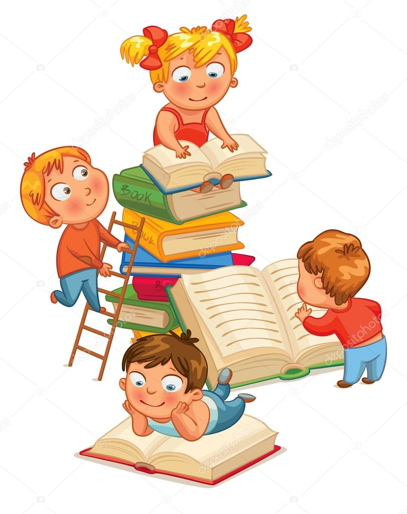 depositphotos 37873731 stock illustration children reading books in the